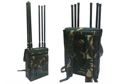 800-2700MHz Manpack Jammer Block Lojack Wifi GPS With 120m Range , 8 Channels