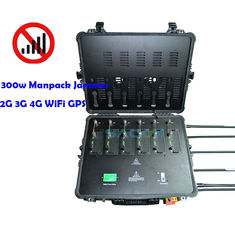 300w Backpack Jammer Prison Military Using Bomb Blcok 2G 3G 4G 5G WiFi Up To 500m