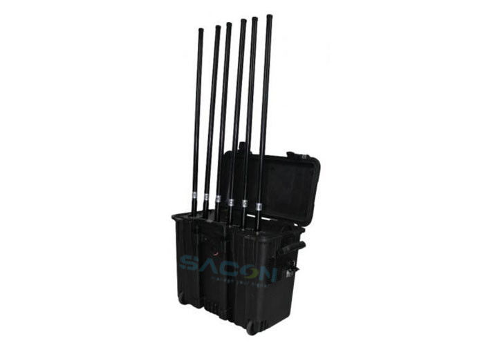 220w High Power Drone Signal Jammer 2 Hours Work With Remote Control