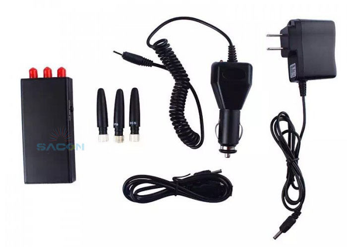 5m Range Portable Gps Signal Jammer 3 Omni Antennas with 700mA Power