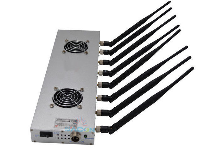 30m Long Range High Power Signal Jammer 8 Bands 16w With 24 Hours Work Time