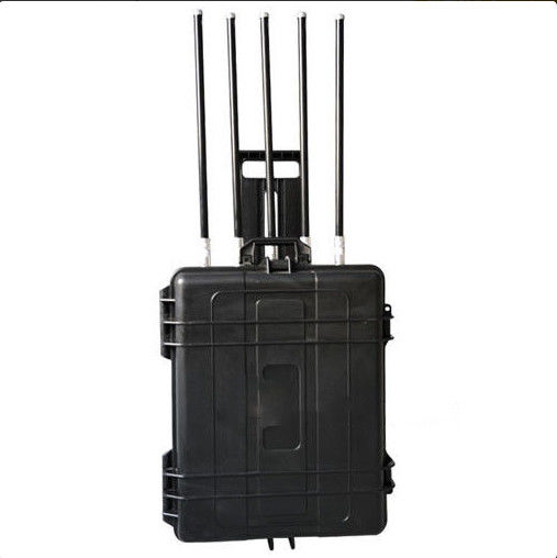 Briefcase 500W High Power Manpack Jammer Five Bands For Jail , SA-005M
