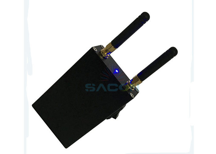 Aluminum Alloy Car Remote Signal Jammer 433Mhz 868Mhz 2 Hours Working DC 9V